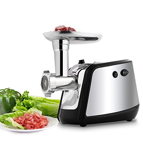 Electric Meat Grinder and Sausage Stuffer Maker Meat Mincer with 3 Grinding Plates for Home Use &Commercial (Black) by Oanon