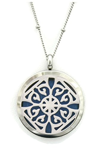 Filigree Stainless Essential Diffuser Necklace