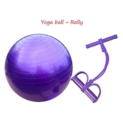 Balle de yoga + Rallye, enfant adulte débutant de balle de gymnastique Balle d'équilibre Femmes enceintes Boule d'accouchement ( Couleur : #3 , taille : 65cm )