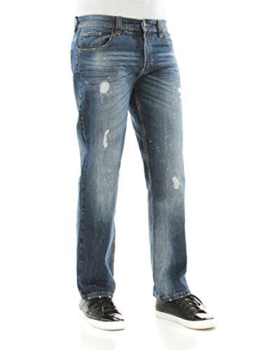 Discount Akademiks Men's Burton Wash Straight Leg Denim Jeans supplier