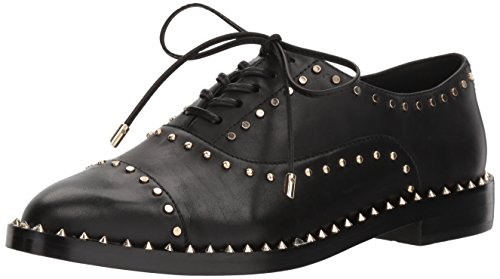 Nine West Womens Garroy Leather Oxford Flat Black Leather IiCADEwj