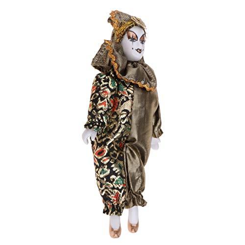 Baoblaze 22cm Clown Man Figure Doll Halloween Decoration Ornaments Home Table Desk Top Decor #1