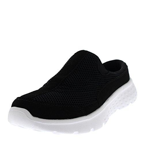 Che Bianca su Assorbe A Mulo Passeggio Sports Facile Sneaker Formatori Urti Piatto Donna Gli Nero Scivolare wZqHU0Y