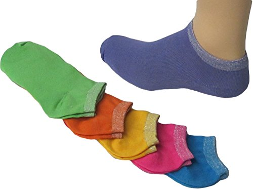 Neon Colors No-Show Socks, Footies, Liners size 9-11 12 Pairs