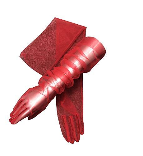 YCShun Women's Tulle long Wedding Bridal Gloves Long Opera Party Gloves 27
