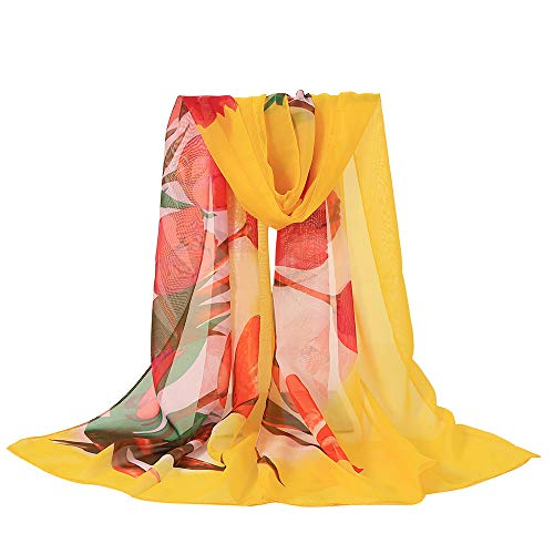 Xturfuo Silk Like Scarfs for Women Lightweight Scarves for Spring Summer Floral Fashion Shawl