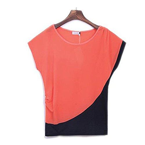 LOBZON - Camisas - Túnica - Básico - Cuello redondo - para mujer Rosso