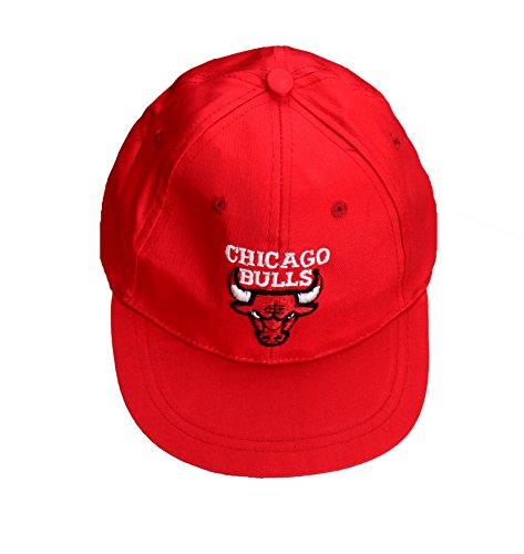 Chicago Bulls NBA Toddlers Adjustable Baseball Cap Hat, Red (2T / 4T, Red)