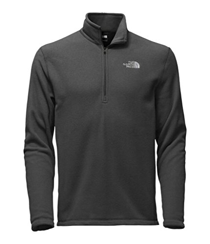 1/4 Zip Fleece Sweatshirt (The North Face Men's TKA 100 Glacier 1/4 Zip Asphalt Grey Sweatshirt LG)