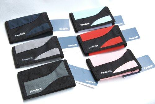 reebok Sport Geldbörse klein Brieftasche Portemonnaie Ausweistasche schwarz grau blau rot pink grau (rosa)