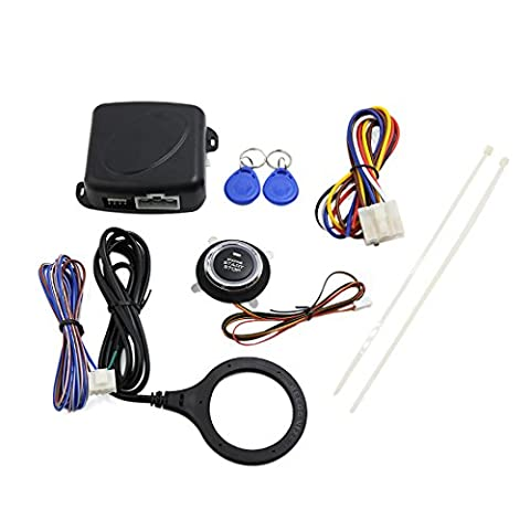 uxcell Car Engine Push Start Button RFID Engine Lock Ignition Starter Keyless Entry System (Push Button Car Starter)