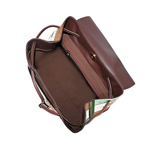 Camping ryggsäck handväska mode PU-läder ryggsäck ledig ryggsäck för kvinnor