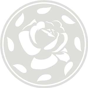 Etiqueta de la pared f129 círculo bastante elegante mit schöner Rose 96x96 cm