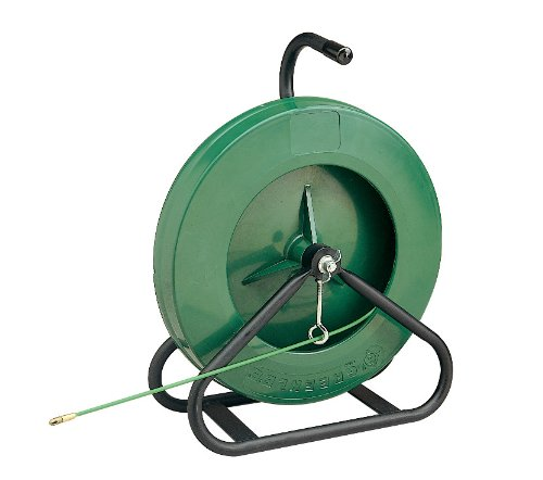 Greenlee 542-250 250-Feet x 3/16-Inch Fiberglass Fish Tape in Reel Stand by Greenlee