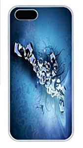 Abstract Blue Vines Custom iphone 4s Case Cover Polycarbonate White