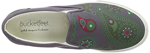 Slipfeet Paisley Slip On Canvas Wns 8