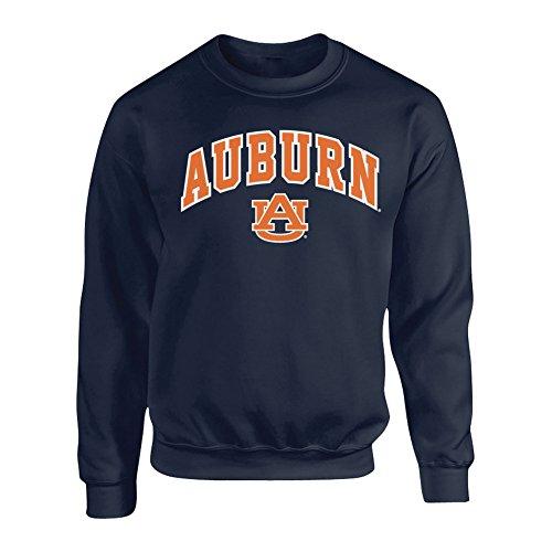 (Elite Fan Shop Auburn Tigers Crewneck Sweatshirt Arch Navy - XL)