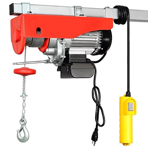 Mini Electric Wire Hoist with Remote Control for Home Garage Auto Shop Overhead Lift 1320lbs (Compact Electric Hoist)