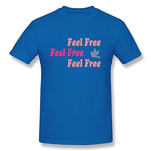 HD-Print Vintage Fantasy Feel Free Tshirt For Man RoyalBlue Size L (Clock Kitchenaid)