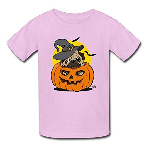 Youth's 2016 Halloween Pumpkin Pug Dog Costume Tshirts (Pug Costumes Online)