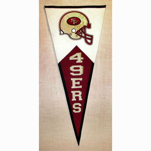 NFL Classic Pennant Banner Type: San Francisco 49ers by Winning Streak