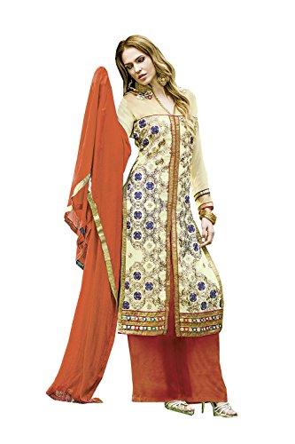 Partywear Etnica Salwar Beige Traditonal Facioun Progettista Indiane Donne Kameez Da 7W8OI6fqO