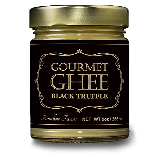 (Black Truffle Grass-Fed Gourmet Ghee Butter 9 oz / 266 ml Pasture-Raised French Butter, Non-GMO, Keto Friendly,, Made In USA by Rainbow Farms (1))