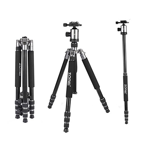 EOS Rebel T6i Rebel T3i EOS Rebel T6 Rebel T2i EOS Rebel T5i Pro Aluminum Adjustable 50 Tripod /& 72 Monopod for: EOS Rebel T1i EOS Rebel T4i EOS Rebel T6s Photo Video Travel Tripod MonoPod