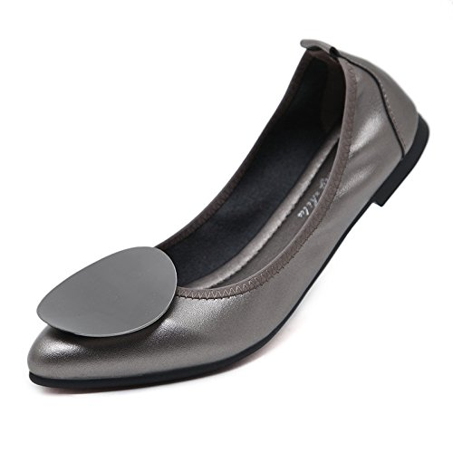 Flat Pointed thin Brown Women's shoes shoes 8wZqwE4