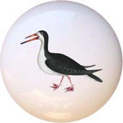 - Skimmer Bird Decorative Glossy Ceramic Drawer Pull Knob