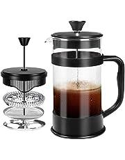 KICHLY French Coffee Press (Black) - 32 oz 8 Cups Espresso