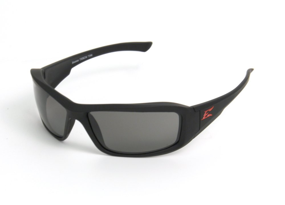 Edge Eyewear Txb236 Brazeau Safety Glasses Torque Series Black W/ Smoke Lens(Sold By 2 Pack)