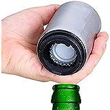 Destapador de cerveza, abridor de botellas automático de acero inoxidable con imán para las corcholatas, ideal en hogar, bar