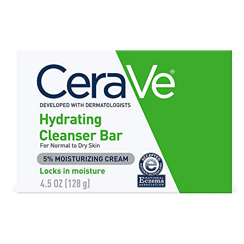 CeraVe Hydrating Cleanser Bar | 4.5 Ounce | Soap-Free Body