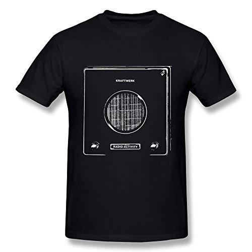 HUBA Men's T Shirt Kraftwerk Radio Activity Black