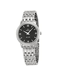 Omega DeVille Prestige Black Dial Stainless Steel Ladies Watch 42410276001001