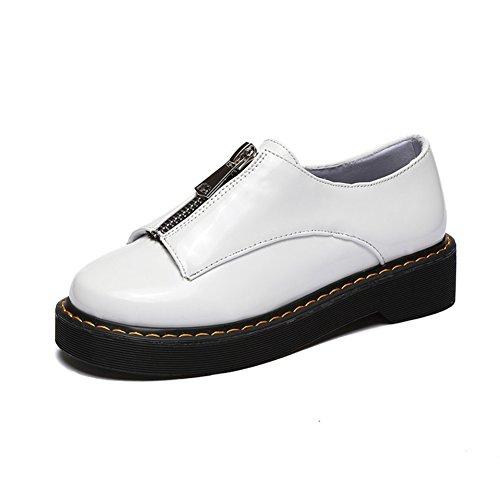 cheap for discount 63f42 de7f8 British retro ball head wind heel Spring heel Spring heel Spring and autumn  light comfortable low shoes with flat Women iexcl  macr s shoes B01N7JSZWE  Shoes ...