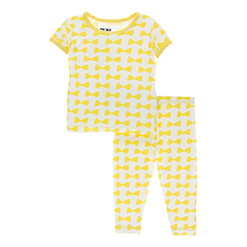 Print Pyjama Bottoms - Kickee Pants Little Boys Print Short Sleeve Pajama Set - Natural Farfalle, 2T