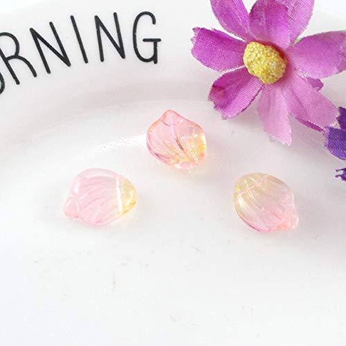 Lampwork Earring Crystal - Calvas 50 PCS Earrings Accessories 1315mm Crystal Lampwork Petal Pendant Charm for Jewelry Making - (Color: 5)