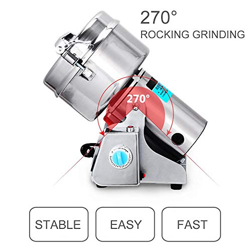 Giraffe-X 700g 110V Swing Type Herb Grain Spice Grinder Cereal Mill Grinder Flour Powder Machine,High Speed Stainless Steel,50-350 mesh