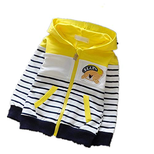 Toddler Baby Boys Tops Clothes Clothing Jacket Kids Boy Jackets Coat Outerwear Yellow