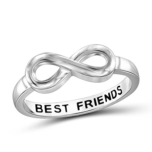 Jewelexcess Elegantly Engraved With Best Friends Infinity Ring (Infinity Ring Engraved Best Friends)