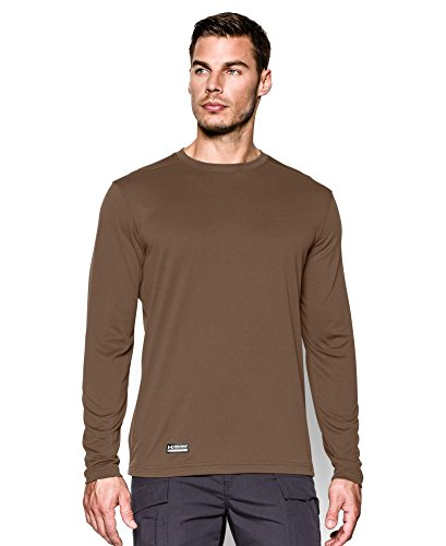 Under Armour Army (Under Armour Men's Tactical UA Tech Long Sleeve T-Shirt, Army Brown/None, Medium)