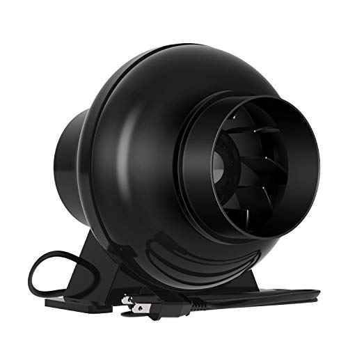 VIVOSUN 4 Inch 195 CFM Inline Duct Ventilation Fan Vent Blower for Grow Tent (Variable Speed Furnace 3 Ton)