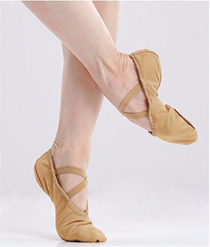 SQIAO-X- Scarpe da ballo scarpe di tela, testa di scarpe da ballo gatto zampa adulto scarpe scarpe di tela di fondo morbido a praticare Yoga scarpe ,25, e colore
