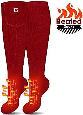 kit de calcetines t/érmicos calcetines para hombre y mujer para calentar los pies recargables equipos c/álidos el/éctricos Calcetines calefactados ideal para deportes al aire libre y de invierno