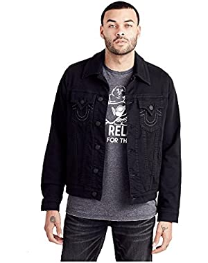 Men's Black Trucker Jacket