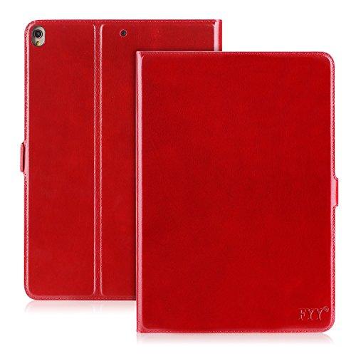 FYY iPad Pro 10.5 Case, Handmade Genuine Leather Case with K