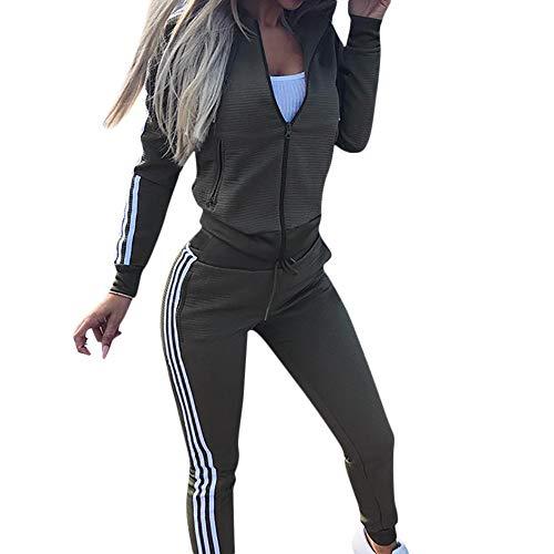f605501d0c7 Dreamyth-Winter 2Pcs Women Tracksuit Zipper Hooded Long Sleeve Shirt Long Pant  Sportswear Suits (