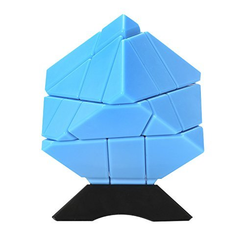 Twister.CK Ghost Cube 3x3,3x3 speed cube stickerless,cube puzzle speed,Smooth Corner Turning with New Anti-Pop Structure,Come with Bonus 2 Sets of Stickers (Golden and Silver)